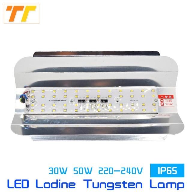 Led Flood Light 50w 100w Halogen Lamp Bulb Replace Iodine Wall Spotlight Floodlight Tungsten Construction Outdoor Lighting 220v