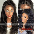 Cheap Black Body Wave Wigs Glueless Long Wavy Hair Synthetic Lace Front Wigs With Baby Hair Heat Resistant For Black Women