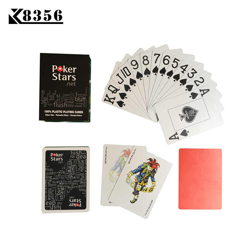K8356 Playing Cards Game Baccarat Texas Hold'em Poker Cards Plastic PVC Waterproof Frosting Pokerstar Board Games 2.48*3.46 inch