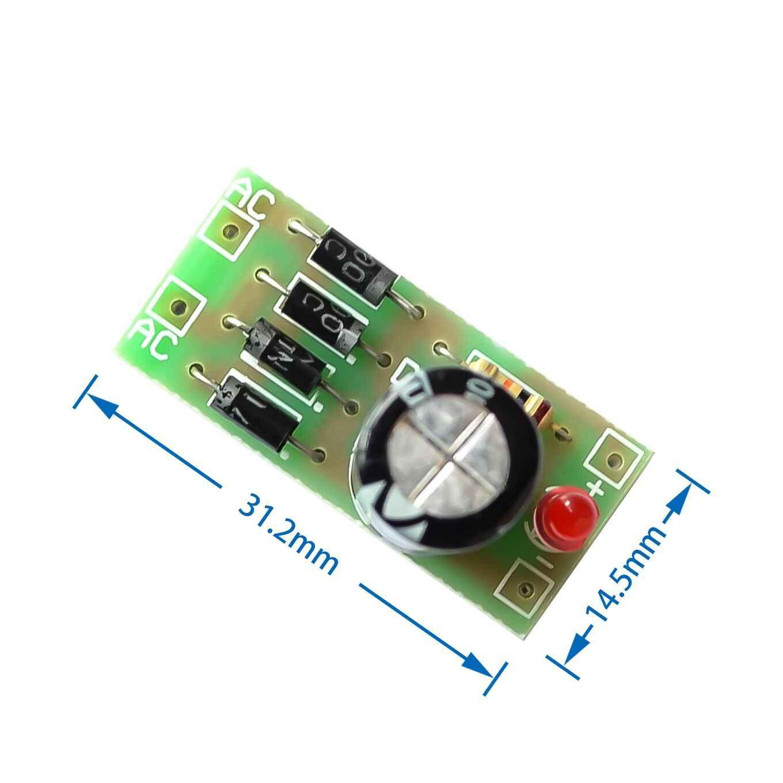 AC to DC power conversion module 1N4007 full bridge rectifier filter 12V 1A  AC DC converter