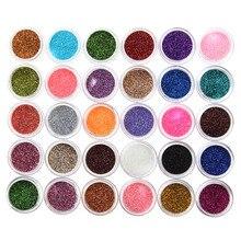30pcs Mixed Colors Eyeshadow Powder Pigment Glitter Mineral Spangle Eyeshadow