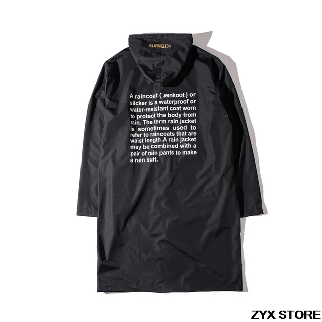 2017 New Collection Vetements Raincoat In Seoul Garage Sale Top