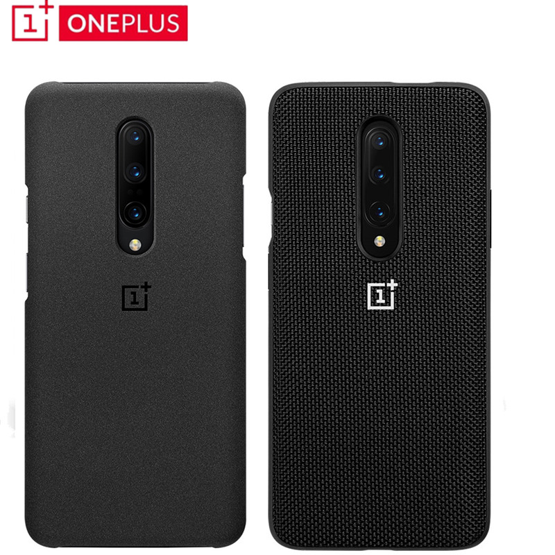 Original 100% Oneplus 7/7 Pro/7T/7T Pro Case official Stock Sandstone bumper Nylon Protection Back Cover|Fitted Cases|   - AliExpress