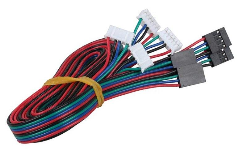 O Envio gratuito de Alta qualidade 4pcs 100 centímetros/200 centímetros DuPont cabo 4pin dois-fase quatro-chumbo cabos conectores para 42 motor de passo do motor