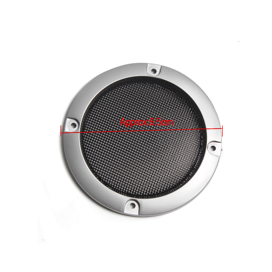 Image 4 - 1 Pair  High grade Silver Replacement Round Speaker Protective Mesh Net Cover Speaker Grille 2/3/4 inch Speaker Accessories-in Speaker Accessories from Consumer Electronics