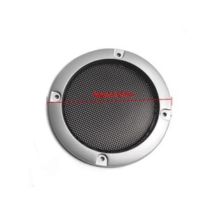 Image 4 - 1 زوج عالية الجودة الفضة استبدال جولة رئيس شبكة صافي الغلاف الواقي الشبكه 2/3/4 بوصة المتحدث الملحقات