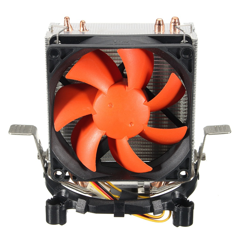 Mini CPU Fan Dual 6mm Heat Pipe For LGA1156/1155 LGA775 AMD754 AMD AM2/AM2+AM3 New Computer Cooling Cooler Fan For CPU 4 in 1 multifunction charging dock station cooling fan external cooler dual charger for xbox one controllers s game console