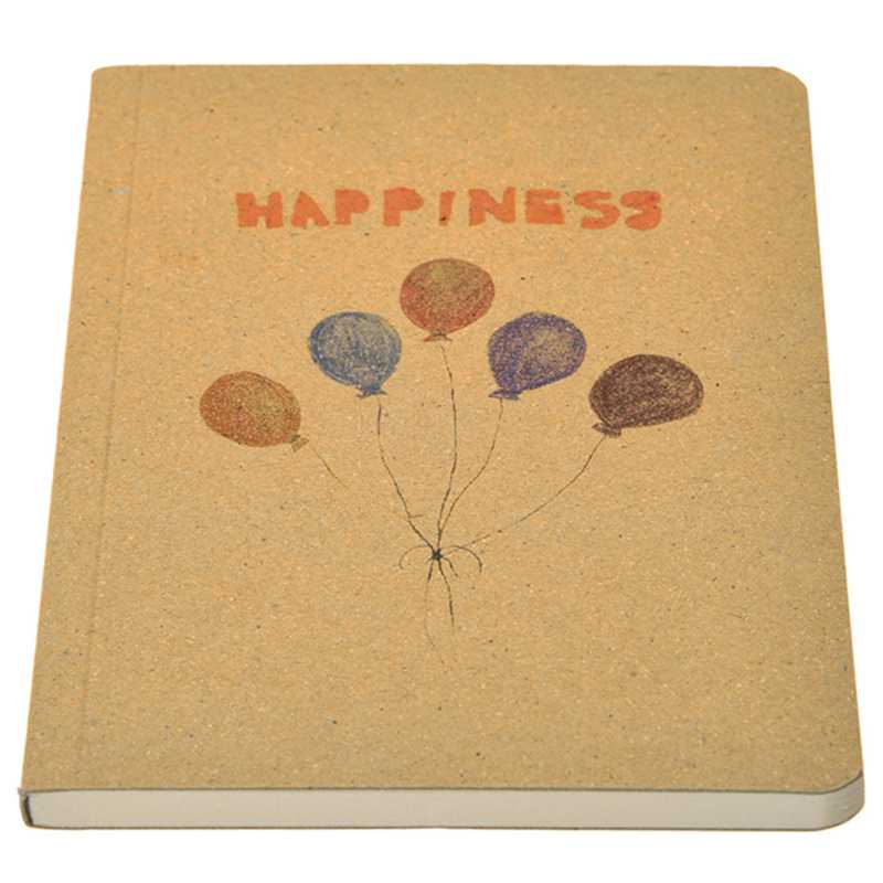 12.5*9cm Retro Old Painting Pretty Nice Laptops Daily Journal Book For Writing Office School Stationery Supplies (Balloon)