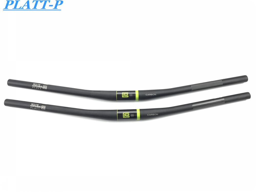 UD Matte pro mtb bicicleta playa del manillar mountain bike bar ciclismo piezas 31.8 * 720-540 mm 9 degree backsweep 5mm altura