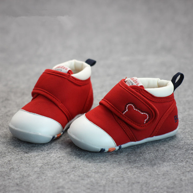 spring autumn baby toddler shoes boys girls shoes soft insole  canvas shoes kids frist walkers non-slip baby shoes