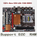 Новый X58 desktop материнских плат для LGA 1366 DDR3 16 ГБ поддержка ecc ram для quad-ядро игла 8PIN CPU материнская плата бесплатная доставка