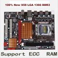 New X58 desktop motherboard for LGA 1366 DDR3 16GB support ecc ram  for quad-core needle 8PIN CPU motherboard free shipping