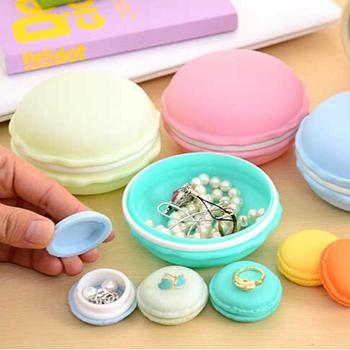 1pcsPortable Candy Color Macaron Jewelry Box Mini Creative Ring Necklace Carrying Case Organizer Storage Box Pill Case Container image