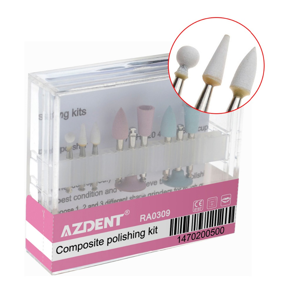 Dental Composite Polishing For Low-Speed Handpiece Contra Angle Kit RA0309 Oral Hygiene Teeth Polishing Kits