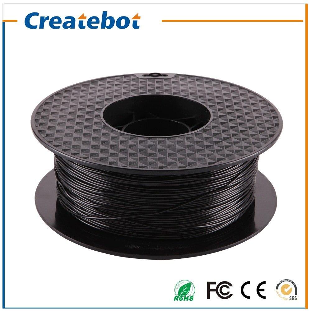 Prix pour 3D Imprimante Filament PLA Filament Noir Couleur 1.75mm/3mm 3D Filament 1 KG 3d imprimante Pièces Filament