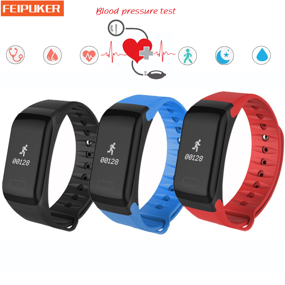 F1 Smart Band Blood Pressure Smart bracelet Digital Pulse Oximeter Heart rate Monitor Sleep Monitor Wristband