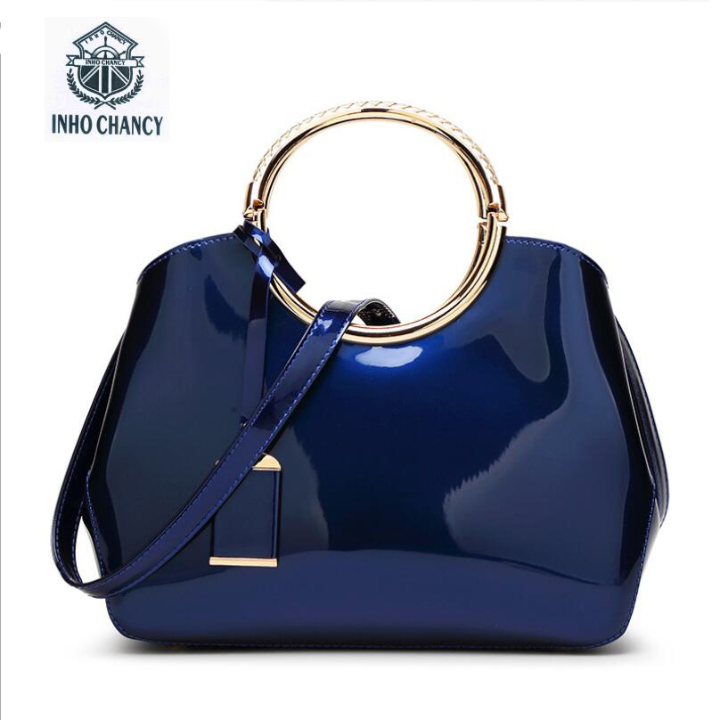 2017 Direct Selling Time-limited Zipper Inho Chancy! Women Leather Handbag Famous Brands Bright Messenger Bag Wild Shoulder