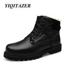 YIQITAZER 2018 Arm Boots Man Shoes Genuine Leather,Men Military Boots Martin Cowboy Snow Boots Man Winter Shoes Plus Size 47 48