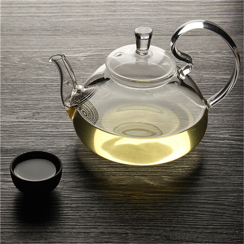 Flower Coffee Glass Tea Pot Chinese Glass Teapots Heat Resistant Glass Teapots Kung Fu Tea Maker With Filter Tea Coffee Sets