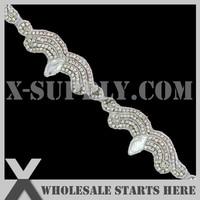 Free Shipping Crystal Rhinestone Applique Bridal Trimming For Wedding Sash Headband And Shoe