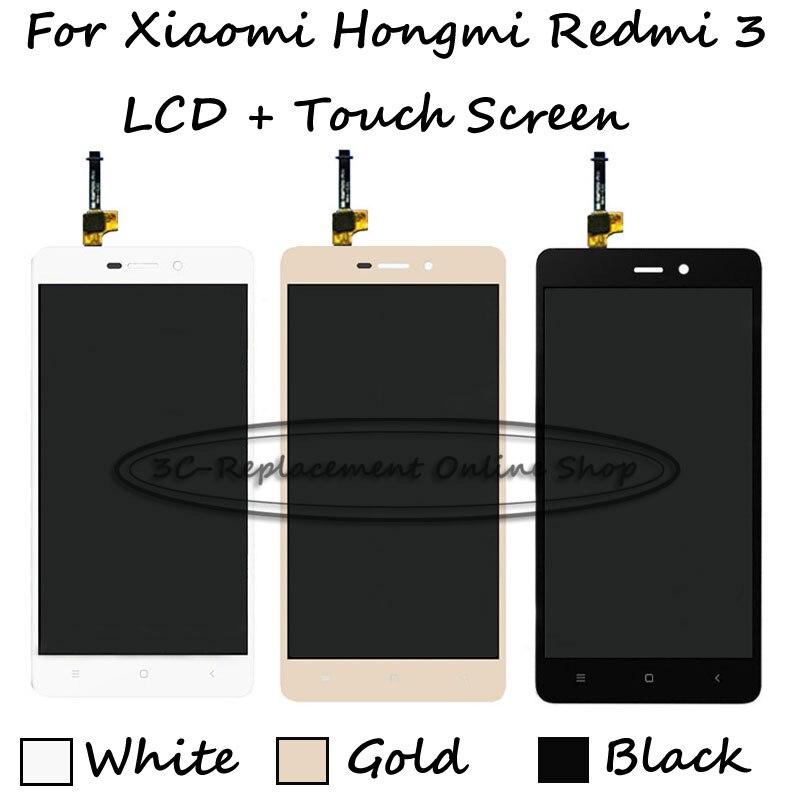 imágenes para Blackwhitegold para xiaomi hongmi redmi 3 3 s pro redmi3 3 s Pro/Prime Pantalla LCD + Pantalla Táctil Digitalizador Asamblea reemplazo