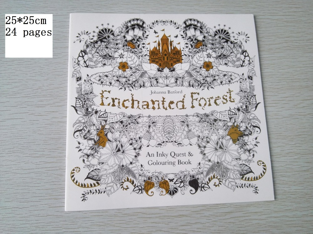 English Edition Enchanted Forest Coloring Book 24 Pages Secret Garden Styles For Adult Relieve Stress Painting Drawing Books In From Office School