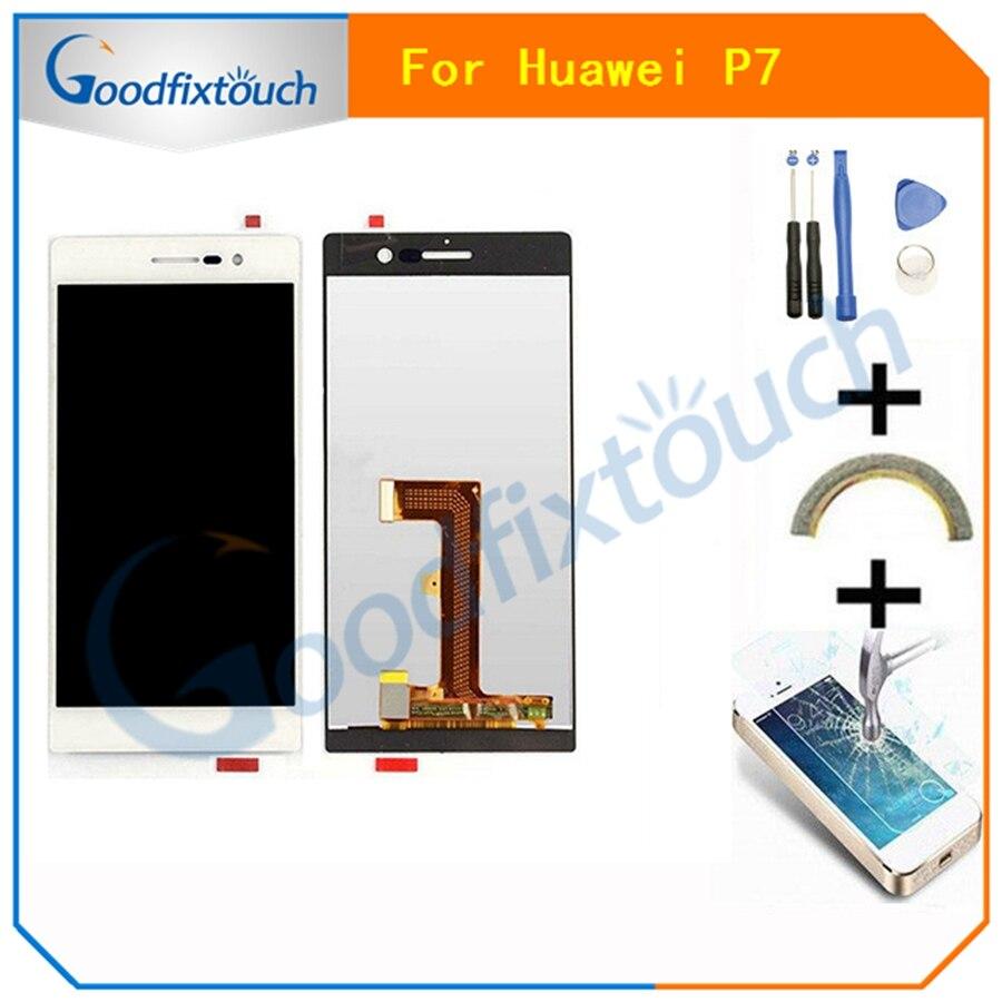 Top qualität Für Huawei Ascend P7 LCD Display Touch Screen Digitizer Objektiv Montage Mit Tools-in Handy-LCDs aus Handys & Telekommunikation bei title=