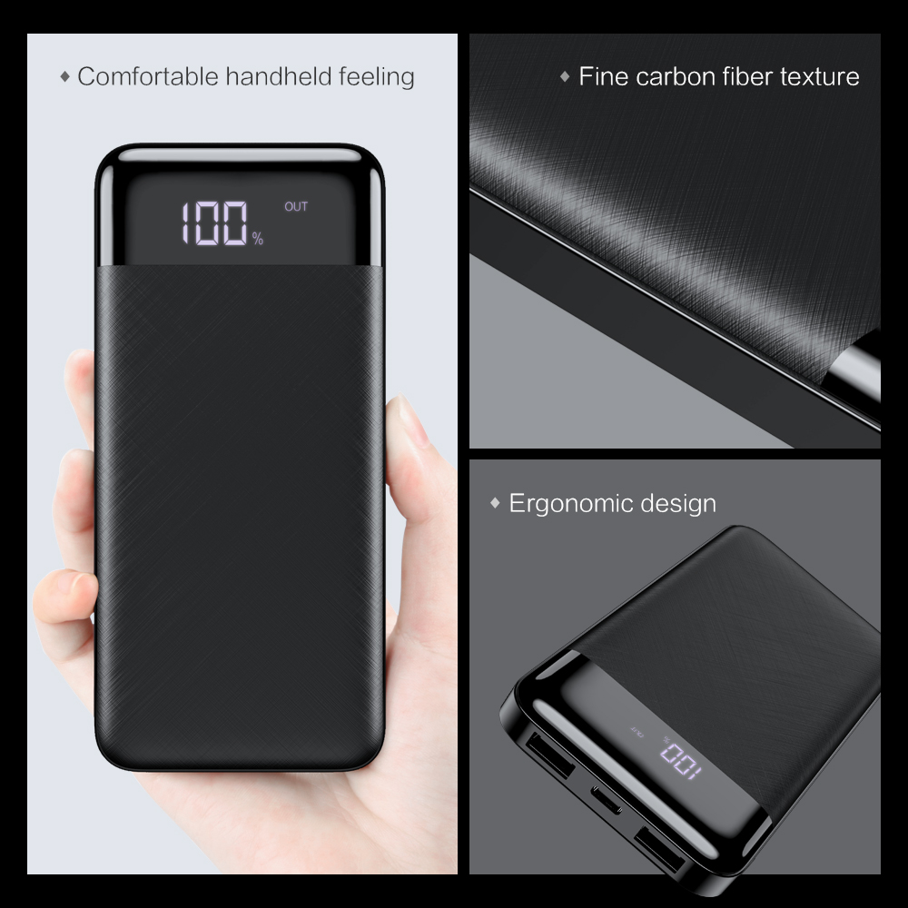 Image 2 - FLOVEME Power Bank 10000mah Dual usb charger For iphone Xiaomi mi External Battery Backup Pack quick Charge Power bank 10000 Mah-in Mobile Phone Chargers from Cellphones & Telecommunications