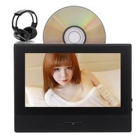 2 Car Headrest DVD Player Auto Monitor 8 HD Touchscreen FM IR Transmitter IR Headphones Color