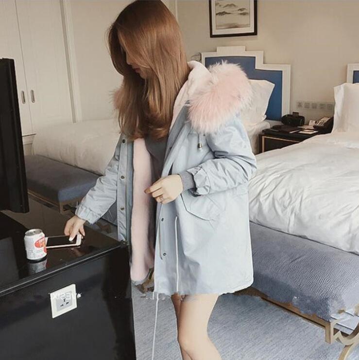 Rembourré 2019 Femelle Outwear Mince Abrigos Femme De Veste À D'hiver Renard Mujer Longue Capuchon Invierno Coton Faux Manteau Fourrure 1 Parka Femmes qExxTnt