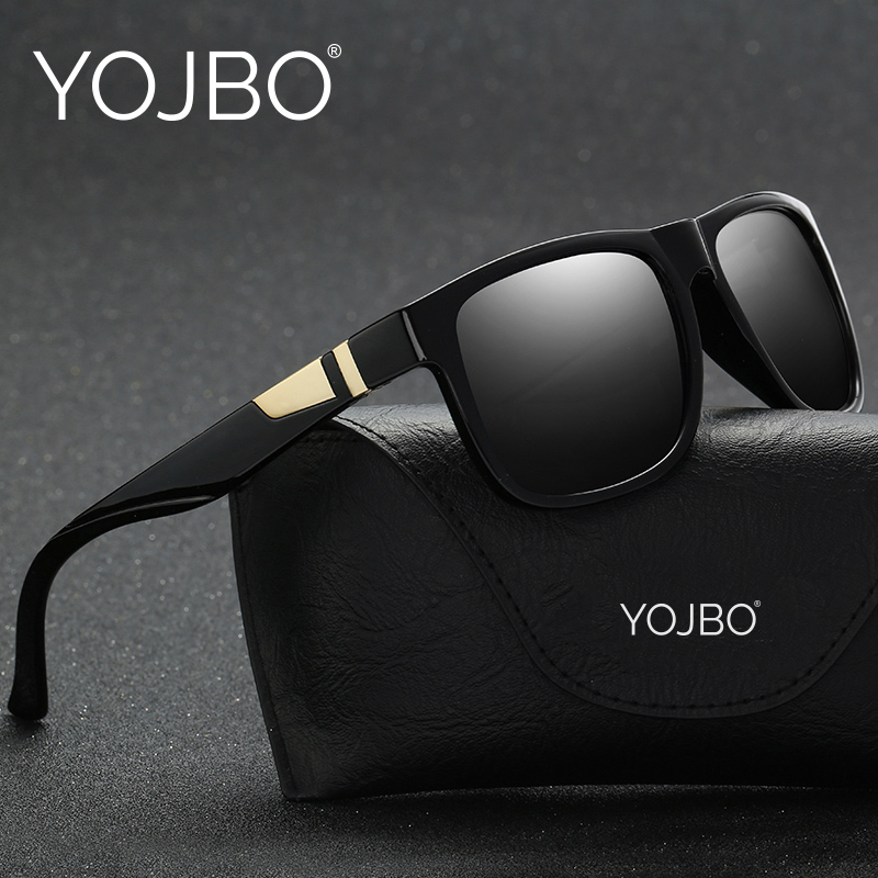 YOJBO Luxury Brand Polarized Sunglasses Men Women Square Vintage Retro Mirror Sun Glasses Black Blue Brown Mens Laides Glasses