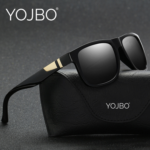 dad56a1a9ce YOJBO Luxury Polarized Sunglasses Men Driving Brand Designer Square Vintage  Mirror Sun Glasses Black Frame Eyewear UV400 Oculos