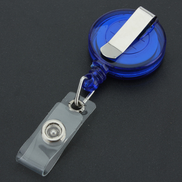 Recoil Retractable Yo Yo Key Ring PULL CHAIN Belt Clip ID CARD Holder Ski Pass