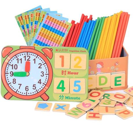 Math Toys Wooden children count goods baby kindergarten ...
