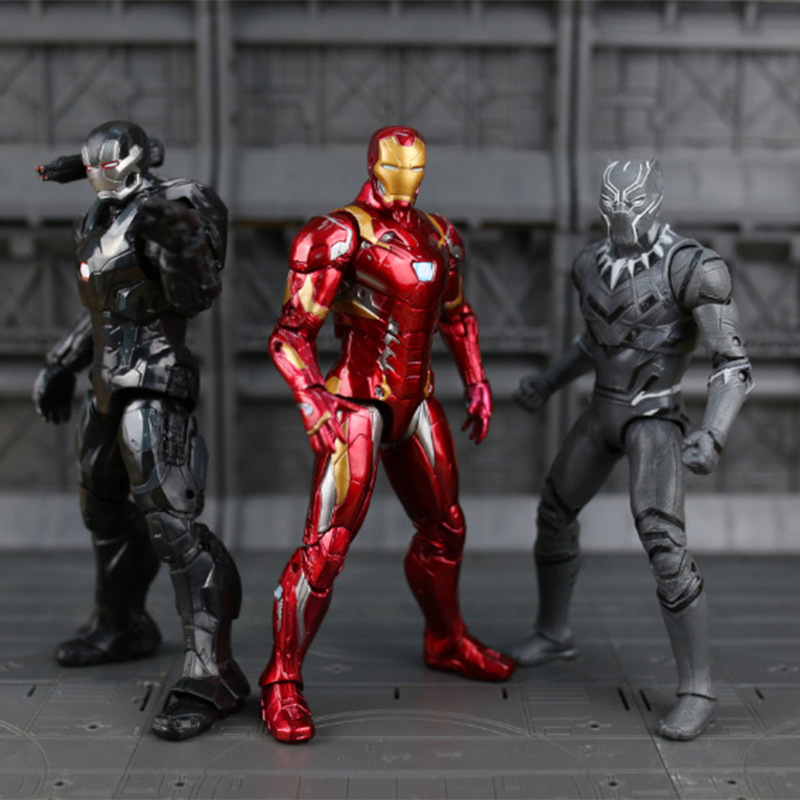 Disney Action doll kids The Avengers toys 7 inch PVC iron Man Captain America boys model Ornaments birthday gift Car decoration new hot 17cm avengers thor action figure toys collection christmas gift doll with box j h a c g