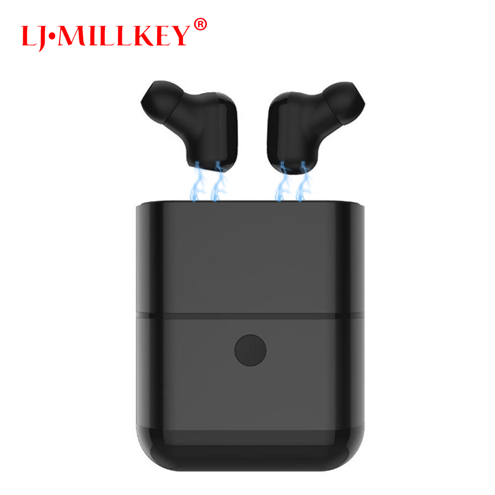 TWS Bluetooth Earphone Earbuds Touch Control Hifi Stereo Wireless Mic for Phone With Charger Charging Box Mini LJ-MILLKEY YZ130 reamx rb t11c earphone mini magnetic dock bluetooth v4 0 earphone dual usb car charger fast charging support iso android phone