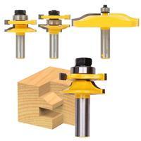 3pcs 1 2 Handle Panel Cabinet Door Router Bit Wood Milling Cutter Hand Tool