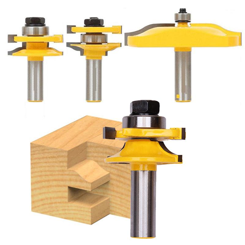 3 pcs/lot 1/2 Handle Panel Cabinet Door Router Bit Wood Milling Cutter Hand Tool  цены