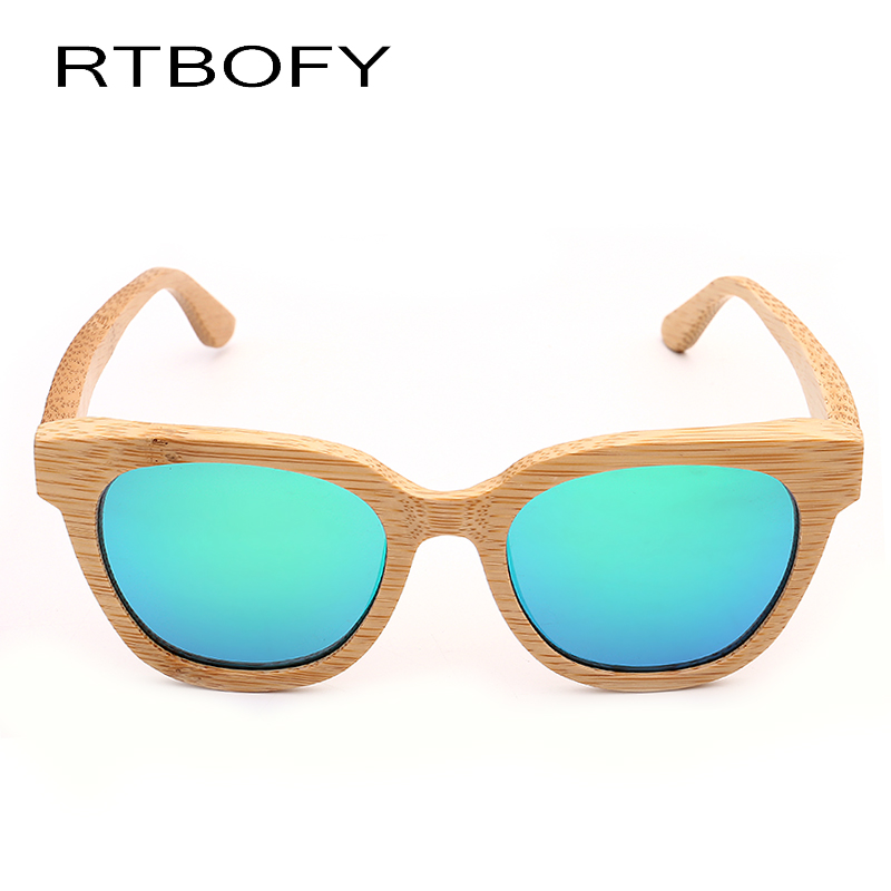 37788d397f RTBOFY Bamboo Polarized Sunglasses Women Wooden Sun glasses Women Brand  Designer Original Wood Glasses Oculos Z22-in Sunglasses from Apparel  Accessories on ...