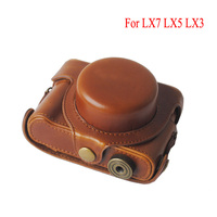 PU Leather Case Camera Bag Cover For Panasonic LUMIX LX7 LX5 LX3 Protective Cover Shoulder Bag