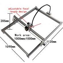 500 mw jouet classe bricolage bureau mini laser machine de gravure machine de marquage 1 mètre * 1 mètre visage de travail.