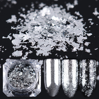 BORN PRETTY Silver Flakes Bling Nail Sequins Mirror Glitter Powder Paillette Shining Nail Art Decoration 0.2g