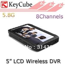 5.8 GHz 5.8G 5 Pulgadas Wireless Mini DVR Monitor de Apoyo 32 GB de Detección de Movimiento 9.5 Horas de Grabación de Loops tarjeta de Envío Gratis