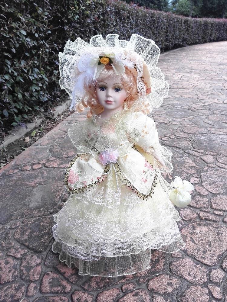 Big Vintage Retro Porcelain Palace Girl Doll Home Decoration Antique Ornaments Christmas Gift 40cm