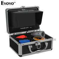 Eyoyo 30M 1000TVL Full Silver Underwater Camera For Fishing 12Pcs Infrared IR LED 7 Inch TFT