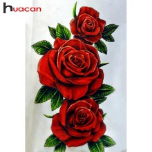 Huacan DIY 5D Diamond Painting Flower Full Square Diamond Embroidery Sale Rose Cross Stitch Diamond Mosaic Rhinestones Gift diy 5d diamond embroidery yellow rose flora diamond painting cross stitch square 3d diamond mosaic decoration rhinestones flower