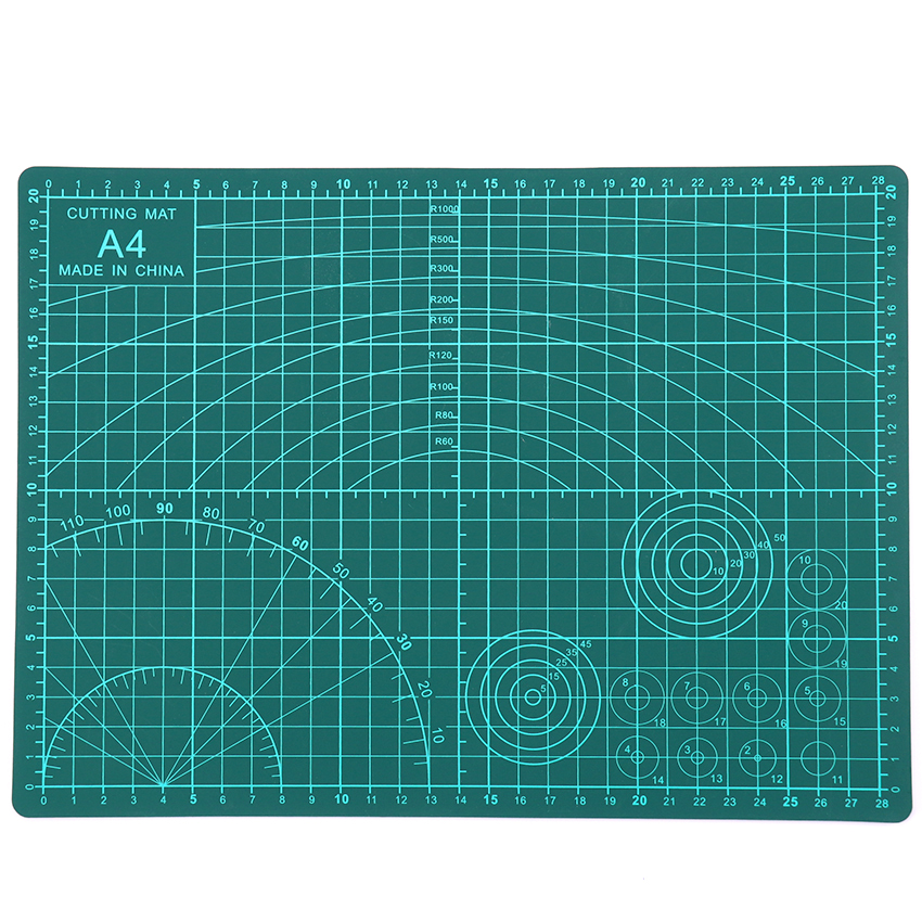 1PC PVC Cutting Mat A4 Durable Self-healing Cut Pad Patchwork Tools Handmade Diy Accessory Cutting Plate Dark Green 30*22cm