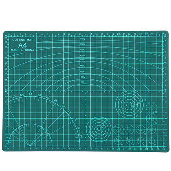 1PC PVC Cutting Mat A4 Durable Self-healing Cut Pad Patchwork Tools Handmade Diy Accessory Cutting Plate Dark Green 30*22cm a4 30 22cm sewing cutting mats plate design engraving cutting board mat handmade hand tools