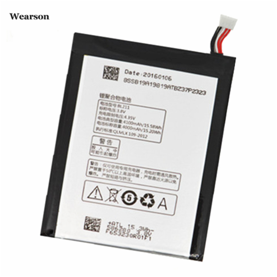 Wearson BL211 Battery For Lenovo P780 Battery Bateria Batterie Batterij 4100mAh Free Shipping to Russia