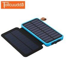 Tollcuudda Солнечный Мобильные аккумуляторы Солнечный Зарядное устройство Портативный Зарядное устройство Внешний Батарея кобура повербанк для Iphone 5, 6 S все телефоны